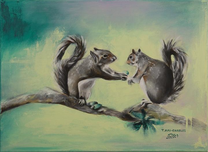 Deux Écureuils-Two Squirrels