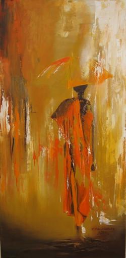 Moine à ombrelle-Monk with umbrella