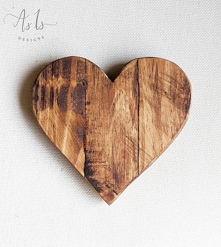 Wood Heart Decor