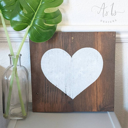 Painted Heart Decor