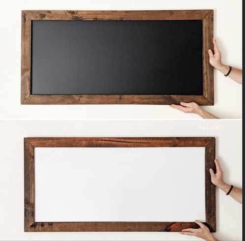 Reversible Chalkboard and Dry Erase Board