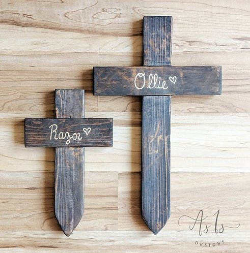 Personalized Memorial Cross