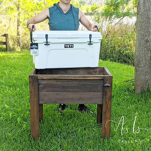 Wood Cooler Stand