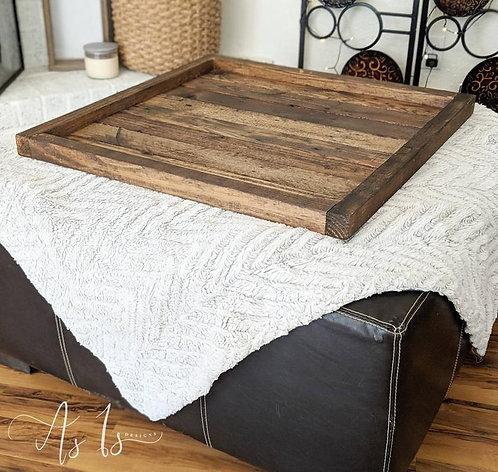 Wood Ottoman Tray