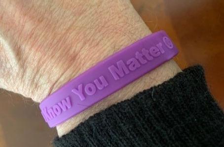DSA We Know You Matter - Purple Wristban