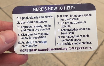 Dementia Society Awar Share Card How to Help