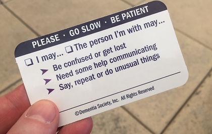 Dementia Society Aware Share Card