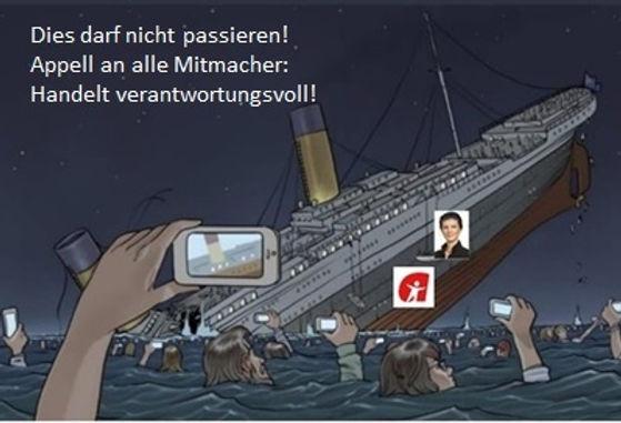 Aufstehen Titanic Untergang Wagenknecht.