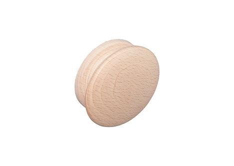 70mm Sanded round knob, beech
