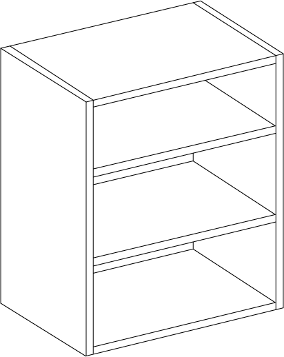 Stone Grey Single Wall Unit 720mm Height, 600mm Width