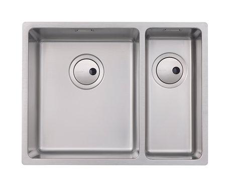 Matrix 1.5 bowl stainless steel undermount/inset sink, LH