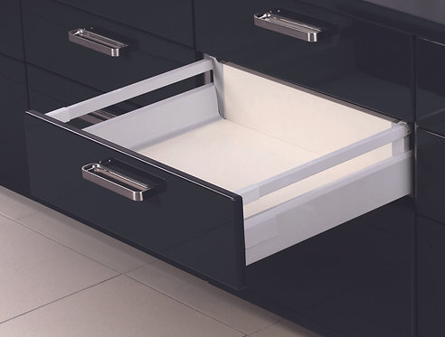 Topslide boxed deep drawer, Grey