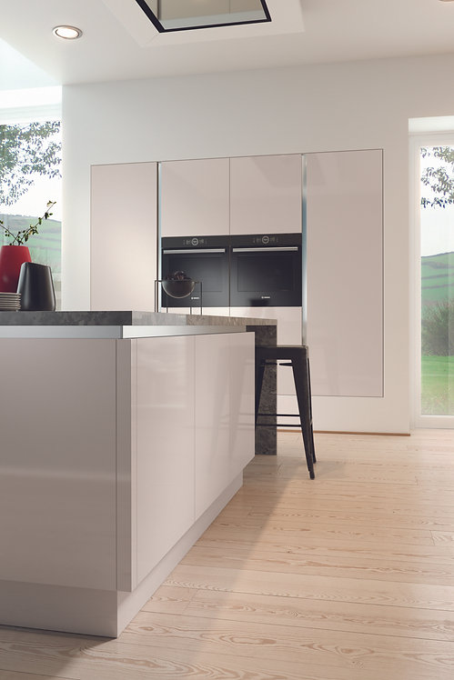 Cashmere Gloss Acrylic Replacement Kitchen Doors