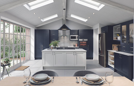 Indigo Elegance PVC Replacement Kitchen Doors