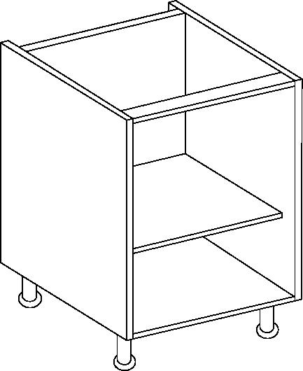 Stone Grey Single Base Unit 720mm Height, 400mm width