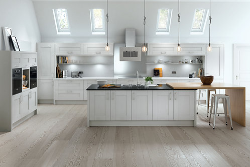 Luxury Shaker Light Grey Kitchen Doors
