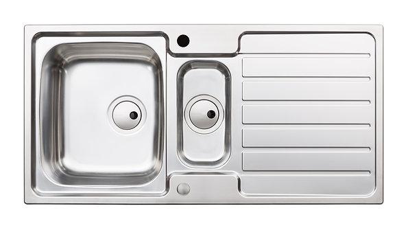 Nero 1.5 bowl stainless steel sink & drainer