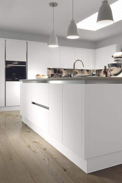 White Matt Acrylic Replacement Kitchen Doors