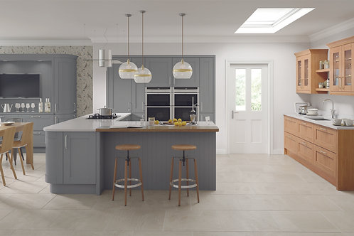 Dust Grey Madison Solid Wood Replacement Kitchen Doors