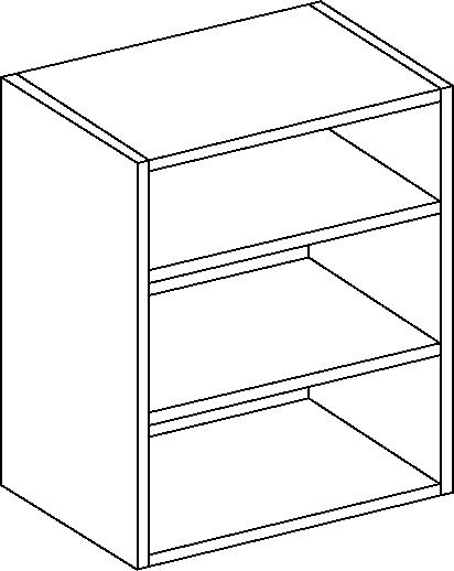 Oak Tall Single Wall Unit 900mm Height, 300mm Width
