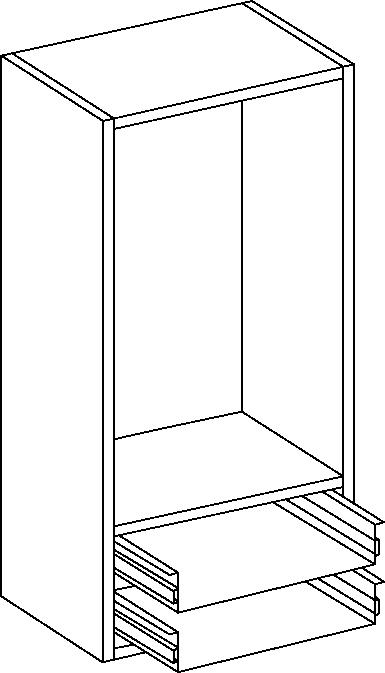 Stone Grey Dresser Unit 1210mm Height, 600mm Width