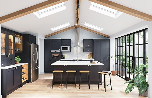 Indigo Madison Solid Wood Replacement Kitchen Doors