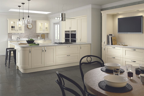 Ivory Madison Solid Wood Replacement Kitchen Doors