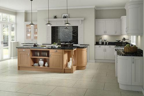 Light Grey Wakefield Solid Wood Replacement Kitchen Doors