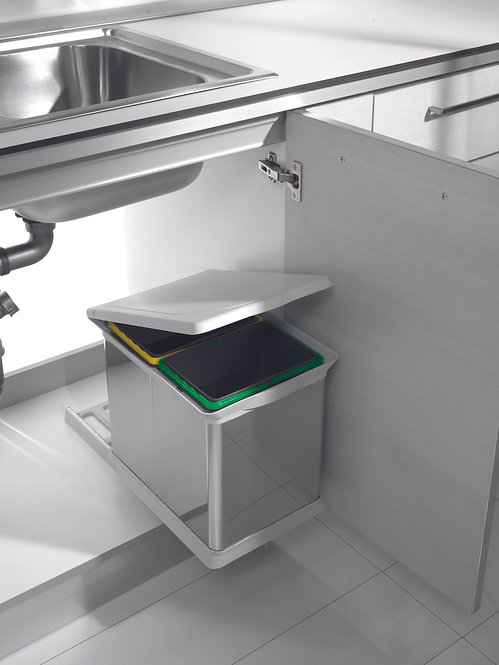 DUO PULL-OUT BIN FOR 400MM CA