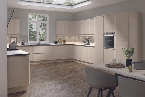 Handleless High Gloss Lucente Stone Kitchen Doors