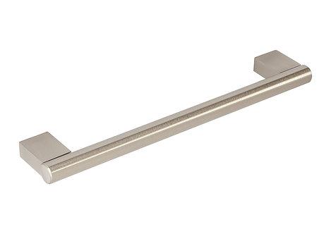 350mm Block end bar handle, brushed steel
