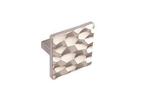 50mm Honeycomb square knob, brushed steel