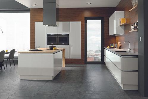Light Grey Gloss Acrylic Replacement Kitchen Doors
