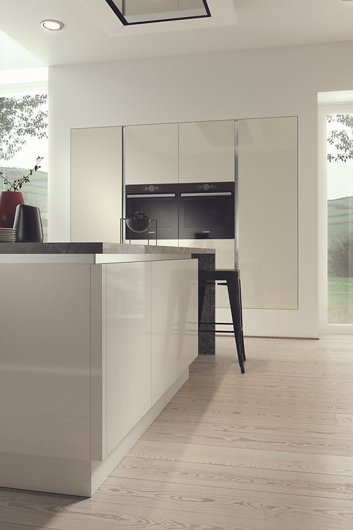 Ivory Gloss Acrylic Replacement Kitchen Doors