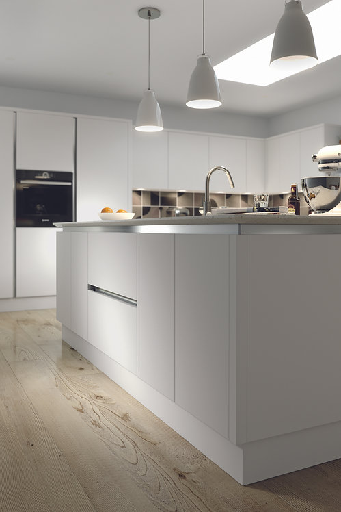 Light Grey Matt Acrylic Replacement Kitchen Doors