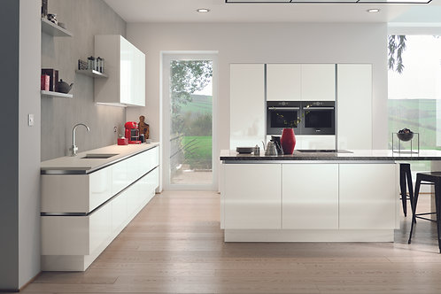 White Gloss Acrylic Replacement Kitchen Doors