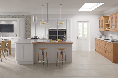 Light Grey Madison Solid Wood Replacement Kitchen Doors