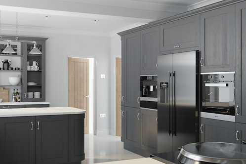 Graphite Wakefield Solid Wood Replacement Kitchen Doors