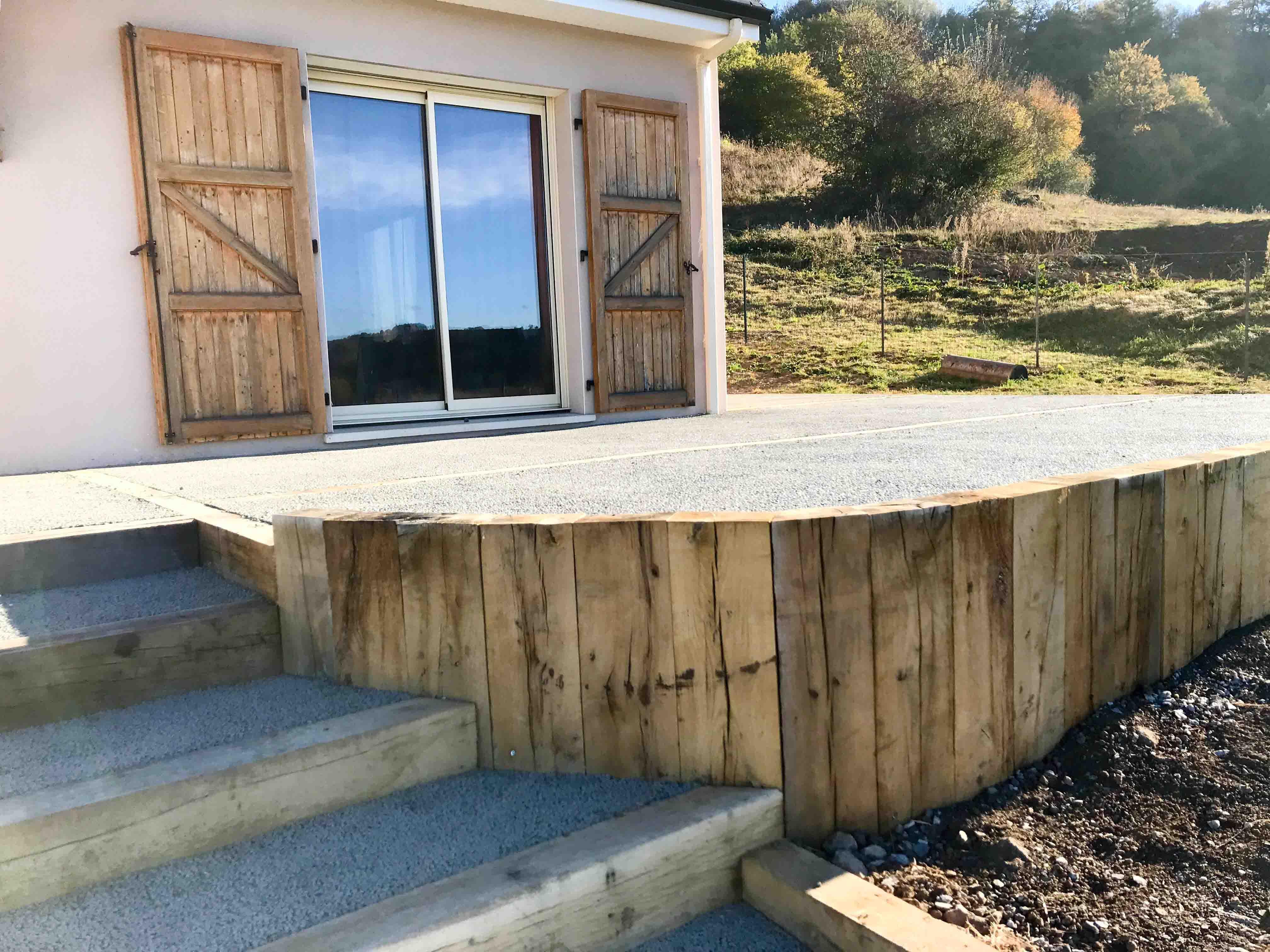 Terrasse en béton drainant