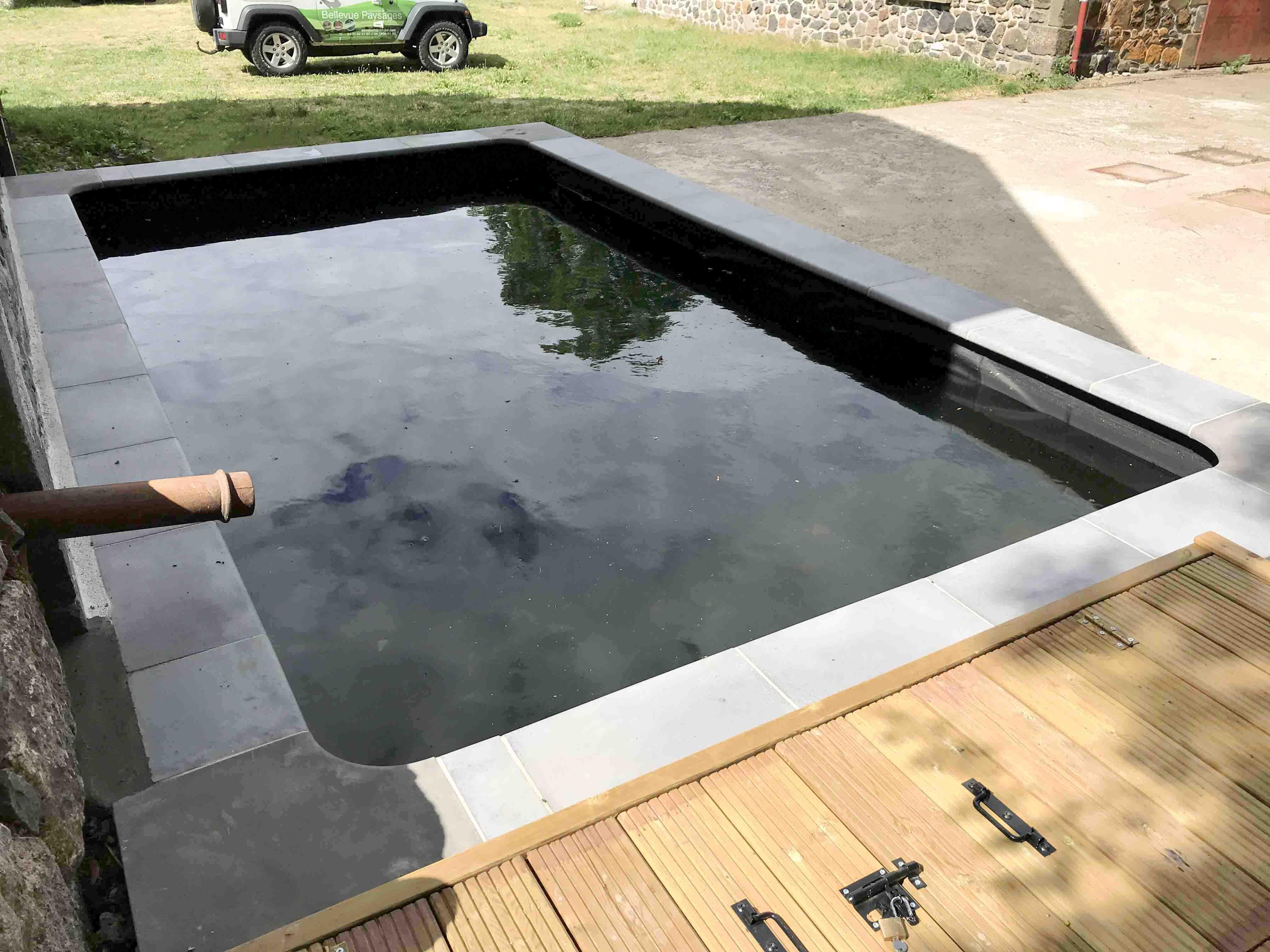 Bassin récupérateur d'eau de pluie
