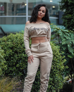 Women Cropped Tracksuit