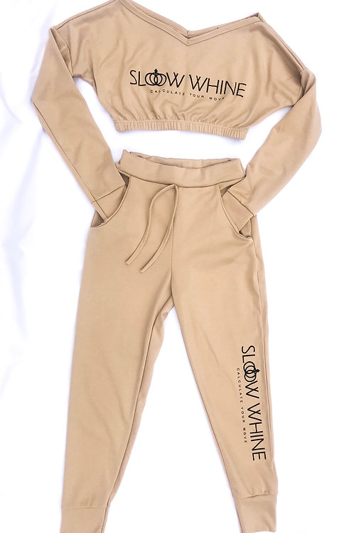 Camel Cropped Tracksuit