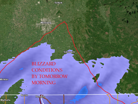 Blizzard conditions expected by Thursday morning for Manitoba