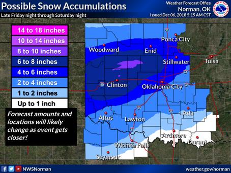 Major winter storm ahead for Oklahoma