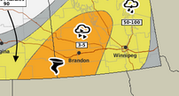 Tornado threat for Manitoba today, then followed by more severe weather