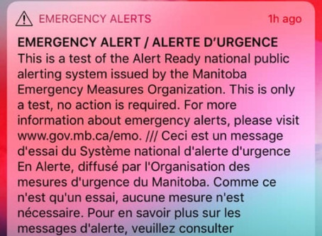 Test of the Alert Ready system