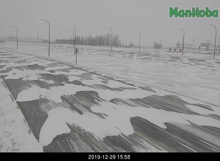 Road conditions across S Manitoba