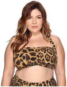 3b57aadf8e8a8 LAUREN Ralph Lauren Plus Size Leopard Retro Halter Women's Swimwear $28