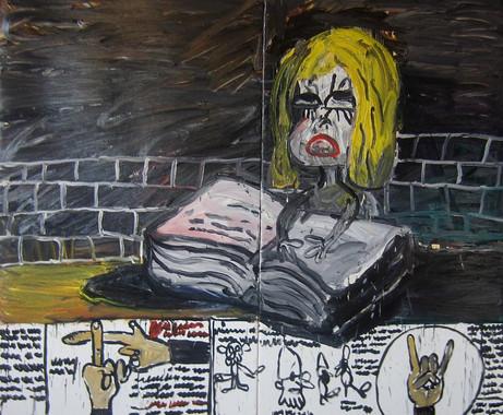 ARMEN ELOYAN Snow White or Alice in Wonderland, 2013 oil on canvas 235 x 270 cm