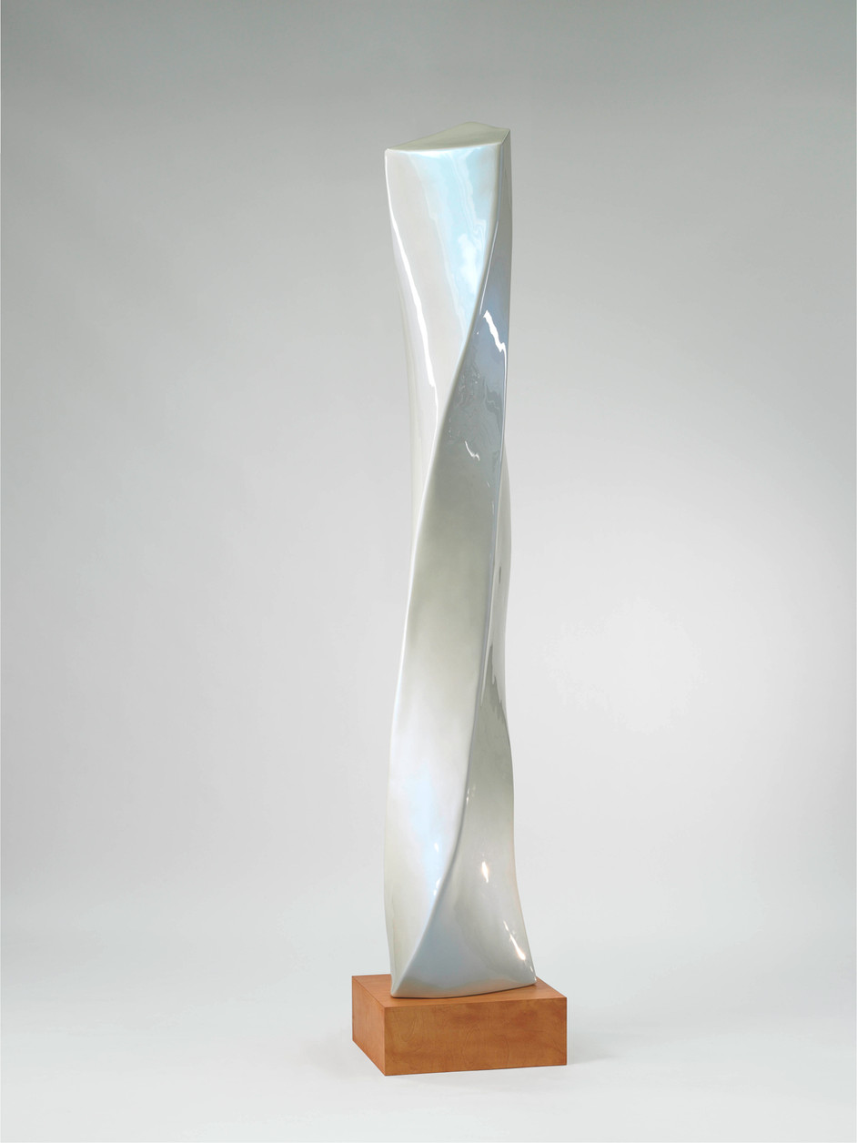 ANTON HENNING Stehende No. 3, 2007 wood, epoxy resin and lacquer 251,5 x 43 x 37 cm, 20 x 54 x 50 cm (plinth)